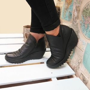 Fly London Yip wedge boots shoes